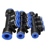 Wholesale New Air Pneumatic Hose Tube Push In Fitting Union Manifold Quick Connector mm Excellent Quality