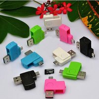 Wholesale Card Reader For Android Phones Micro USB OTG Adapter Micro SD TF Phone Accessories Card Readers