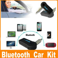 Wholesale Universal mm Car A2DP Wireless Bluetooth Car Kit AUX Audio Music Receiver Adapter Handsfree with Mic For Phone MP3 OM CD5