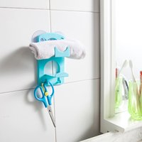 best wall shelves - SMILE MARKET Best Material Plastic Blue Kitchen Sucker Small Storage Rack