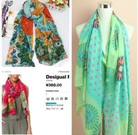 Wholesale 2014 fall fashion for women designer spain desigual famous brand scarf ladies shawls and scarves pashimina casual echarpe