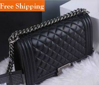 Wholesale Famous Brand Designers Women genuine leather Messenger Bags Quilted Flaps Fashion Bag Women s Leather handbag le boy chain Shoulder Bag