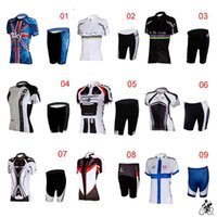 spandex clothing - Team Sky And Nali Women Cycling Jersey Sets Short Sleeve With Padded None Bib Trousers High Elastic Spandex XS XL Road Bicycle Clothing