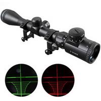 Wholesale 3 X mm Red Green mil dot Sight illuminated Optics Hunting Sniper Scope L0802