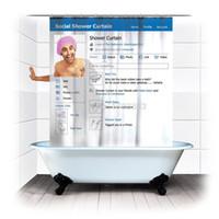 Wholesale Size cm facebook shower curtain social shower curtain polyester Terylene waterproof bathroom curtain