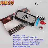 akatsuki ring necklace - Naruto cosplay Naruto headband Akatsuki Ring Akatsuki keychain Tsunade necklace suit of style mixed