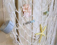 Wholesale New and high quality Decorative Nautical Fish Net w Shells Floats Starfish cm Luau Wall Decor