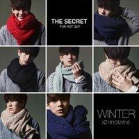 Wholesale New Brand Winter fashion men scarf Cotton Woolen men shawl super warm Scarves for men Color