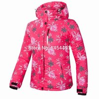Wholesale 2015 TOP brand New Girl ski snowboard jacket waterproof fabric jacket ski jacket skIing jacket FREE GIFT for gloves