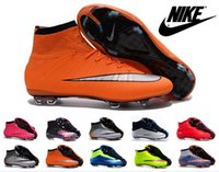 Wholesale 2016 Nike Mercurial Superfly CR7 Lava FG Cleats Shoes Soccer Boots mens Girls Kids Superfly Shoes Football Shoes Boys soccer shoes cleats