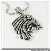 african tribal jewellery - african tribal style for men king lion necklaces pendants trendy jewellery stainless steel In Silver Tone WP031