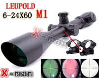 Wholesale 2015 NEW Leupold x60 mm AO illuminated scope hunting scope Diffope W Rings11mm mm Tactical Optics Scopes Riflescope