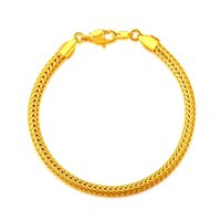africa stamps - 18K Stamp Gold Plated Africa Bracelet New Fashion Rock Style CM MM Thick Snake Chain Bracelet Jewelry B40187