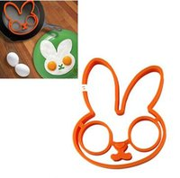amazing milk - Amazing egg little white rabbit egg shaper silicone moulds egg ring silicone mold cooking tools