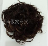 hair bun piece - 35g pc Clip In Hair Bun Chignon Hair pieces Retail Big Hair Bride Bun Ring Dount Curly Many Colors Available Hair Bun Chignon