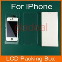 Wholesale 50 Plastic LCD Display Digtizer Touch Screen Repair Package Packing with Paper Box For iPhone