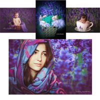 Wholesale 200CM CM Mini baby child photography Lavender background baby photos zzj1001