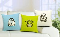 Wholesale Hot selling Star Wars soldier lovely cartoon pillow case cotton linen throw cushion cover for sofa car pillow case