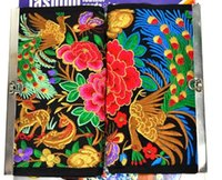 Wholesale YX peacock flower double sided embroidery ethnic Wallet cm