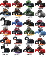 Unisex swag hats - Football Snapbacks All Team Snap Back Hats Cheap New Season Snapback Caps Fashion Hip Hop Caps Womens Mens Flat Caps Swag Hats Mix Order