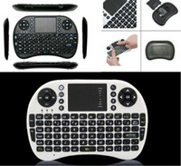 Wholesale 20X Wireless Keyboard rii i8 mini keyboards Fly Air Mouse Multi Media Remote Control Touchpad Handheld for TV BOX Android Mini PC FP