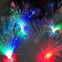 acrylic fiber optic - Christmas decoration Multicolor Changing LED Fiber Nightlight Lamp small night light colorful fiber optic lamp DHL FREE