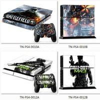 Cheap 100pcs Wholesale PS4 Skin Sticker 600 Designs Vinly Skin Sticker for Sony PS4 PlayStation 4 and 2 controller skins PS4 Stickers