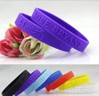 Wholesale cheap Sports KOBE basketball Silicone jelly Wristband Cuff Bracelet Wrist Band Kobe Bryant s signature bracelet wristbands