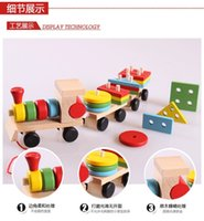 activity block toy - Funny Children Education Toy Wooden Stacking Train Toys pieces trains with activities with block bricks assembly whirling train fast Post