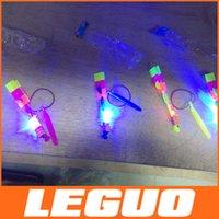 Unisex led toys - LED Amazing flying arrows helicopter fly arrow umbrella kids toys