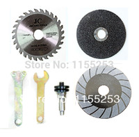 angle grinder blades - 6pcs sets Electric Drill Accessories Variable Angle Grinder Saw Blade Wrench and Connecting Rod order lt no track