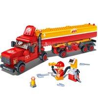 tanker transport - Banbao Oil Tanker Transport Car Plastic Model Building Block Sets Educational DIY Bricks Toys Christmas gift