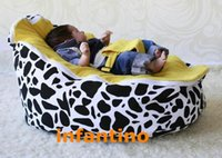 Wholesale COW YELLOW SEAT comfortable and soft baby Bean Bag for newborn sleeping