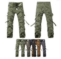 cargo pants - HOT CASUAL MILITARY ARMY CARGO CAMO COMBAT WORK PANTS TROUSERS Cargo Pants