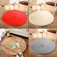 Wholesale Soft Round Circle Circular Modern Shaggy Coloured Floor Carpet Rugs Mats