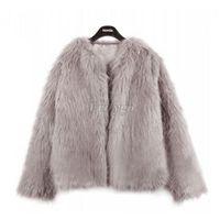 Wholesale Winter Fashion Women Warm Faux Fur Fox Coat Ladies Fake Fur jacket Parka Outerwear Color Plus Size Freeshipping