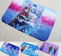 Wholesale 38 cm Hot super absorbent doormat Frozen coral velvet carpet printing Cartoon non slip bath mat A055 A3