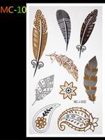 achat en gros de bijoux oeil-main indien-Gros-Large arabes tatouages autocollants indiennes temporaires vent yeux la paume de votre main Corps art tatouage éclair bijoux en or tatouage au henné