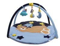 0-12 Months baby crawling floor mat - Big size Baby cartoon educational playing mat infant animal bear crawling mats kids soft Comfortable Folding floor rugs bebe cotton toy