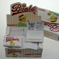smoking paper - Natural glue Bambu Cigarette rolling Paper Cigarette Paper Smoking Paper Wrapping Paper Size Cigarette Paper MM small Bambu