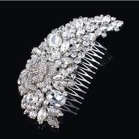 deco - Bridal hair comb Wedding hair jewelry crystal hair piece pearls hair accessories Art Deco Head Piece Headdress