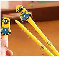 Wholesale 12pcs Cute Despicable Me Minions Ball Pen For School Use Cartoon Novelty Gel ink Pens