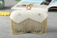 Wholesale Newest Handmade Beaded Rhinestones diamond Crystal Evening Bag Clutch Bags women Day Clutches Lady Evening Wedding Purse