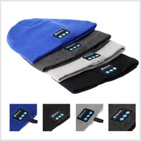 Wholesale Bluetooth knitted hat outdoor cold winter warm and comfortable breathable answer the phone listening to music Acrylic environmentall