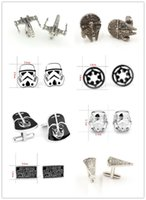 Wholesale fashion designs star Wars Cufflinks Cuff Links Cartoon Jedi Knight Darth Vader Novelty Cufflinks Jewelry Cuff Links D526