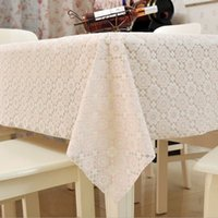 Wholesale 1pcs Rectangle Dining Table Cover Cloth Knitted Vintage Knitting Hollow Out Banquet Kitchen Wedding Party