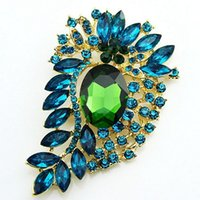 clothing manufacturers - Foreign trade selling new and unique glass resin brooch brooch clothing accessories manufacturers hats