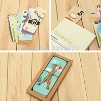 Wholesale 30Pcs Set DIY Scrapbooking Eiffel Tower Paper Bookmarks Set Cute Doll Message Card Wedding Souvenirs