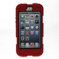 Meilleures Cases Waterproof de téléphone cellulaire pour le téléphone Covers 5 5S Siliocne caoutchouc étanche antichoc militaire Duty Mobile Phone 6134