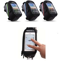 Wholesale Outdoor Cycling Sports bag Bike Bicycle bag Frame Front Tube pannier for Cell Phone PVC EMS